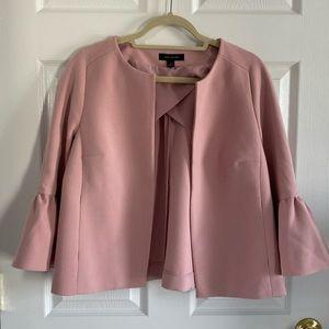 Ann Taylor Pink Bell/Peplum Sleeve Jacket